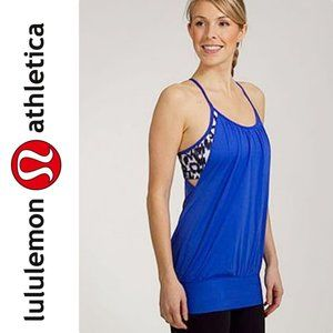Lululemon No Limit Blue Ikat Print Sports Bra Tank